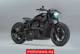 Агрессивный Road Runner на базе мотоцикла Indian Scout Sixty